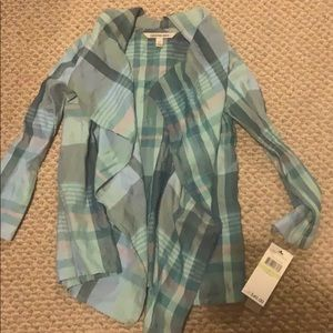 New with tags girls flannel open cardigan
